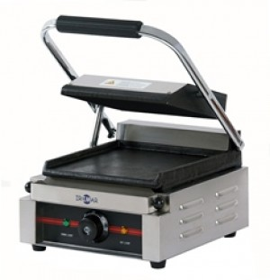 PLANCHAS GRILL ELÉCTRICAS CON TAPA, LISA, GR-220 LL