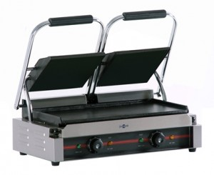 PLANCHAS GRILL ELÉCTRICAS CON TAPA, LISA, GR-475 LL