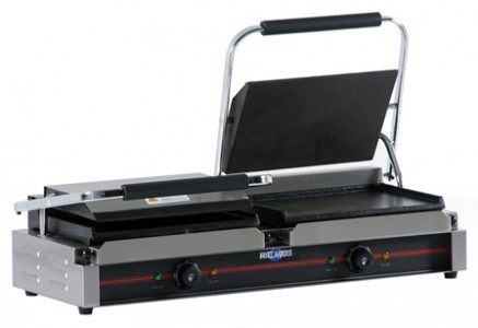 PLANCHAS GRILL ELÉCTRICAS CON TAPA, LISA, GR-340 X 2 LL