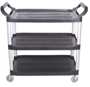 TROLLEY WITH PLASTIC SHELVES CSP-10250/3